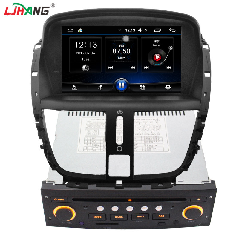 LJHANG 1 DIN 7 Inch Car dvd for PEUGEOT 207 2007-2014 Multimedia Steering Wheel Control GPS Navigation Video Radio Headunit WIFI jdaston 1 din 7 inch android 6 0 car dvd player for peugeot 207 multimedia video wifi gps navigation radio stereo steering wheel