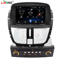 LJHANG 1 DIN 7 Inch Car DVD For PEUGEOT 207 Multimedia Steering Wheel Control GPS Navigation