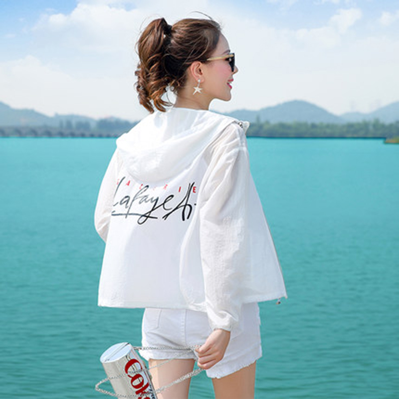 Sun Protection Clothing Female Hooded Loose Beach Clothing