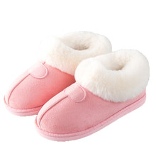 YeddaMavis Women Shoes New Winter Snow Boots  Warm Plush Fluff Fur Suede Flats Couple
