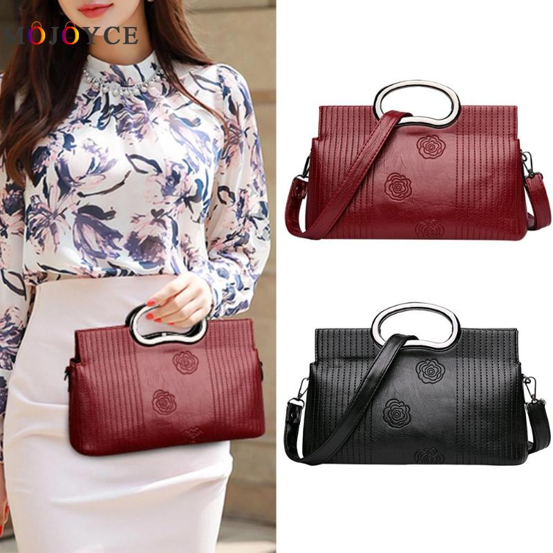 Luxury Brand PU Leather Women Messenger Bag Solid Color Female Shoulder Bag Office Lady Clutch Handbag Bolsa Feminina 2
