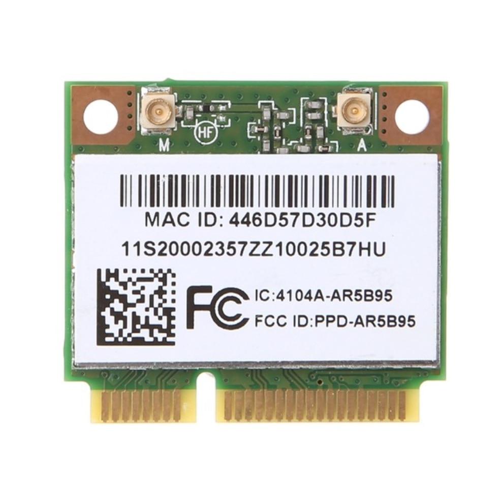Atheors AR9285 AR5B95 Wireless WiFi Card for E46 Y560 V360 Z470 Y460 G460 G470 WLAN 150Mbps WIFI CARD