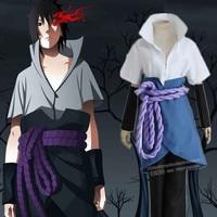 Anime Cosplay Narutos Ninja Sasuke Uchiha Cosplay Parti Kostüm herhangi boyutu