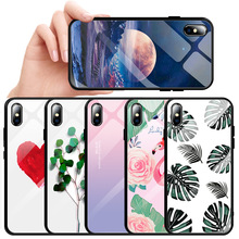 Tempered Glass Case For iPhone XS Max XR