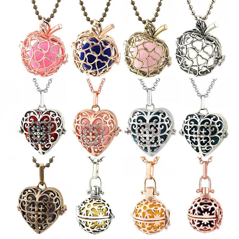 Мексиканская цепочка в форме сердца винтажное ожерелье-медальон Музыкальный шар ожерелье для беременных для ароматерапии эфирное масло юв...