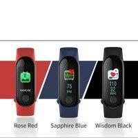 Pour Xiao Mi M3 Plus Smart Bracelet Coeur Taux Sang Pression Multi-Sport Météo Mode Automatique Écran Lumineux