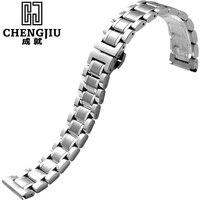 Đồng hồ cho longines steel xem nhạc nữ ladies cổ tay dây đeo nữ bracelet kim loại watchband 22 mmmontre giờ celik saat kordonu