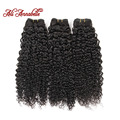 Ali Annabelle Hair 3pcs Lot 8A Brazilian Virgin Hair Kinky Curly Human Hair Extension 1B Natural Black Hair Weave 12 to 28inch