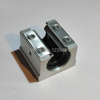 Free Shipping 10PCS Lot SBR20UU CNC Linear Ball Bearing Support Unit Pillow Blocks With Platen 20mm