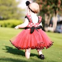 2017 New Summer Minnie Dress Girls Clothes Printing Dot Mickey Princess Dresses Kids Fashion Clothing For