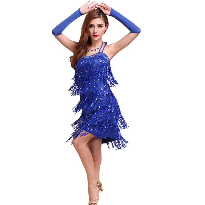 23434ec68 Wholesale Sexy Latin Tango Salsa Cha Cha Ballroom Flamenco Dancing Dress  Sequins Fringe Hot Sale-in Latin from Novelty & Special Use on  Aliexpress.com ...