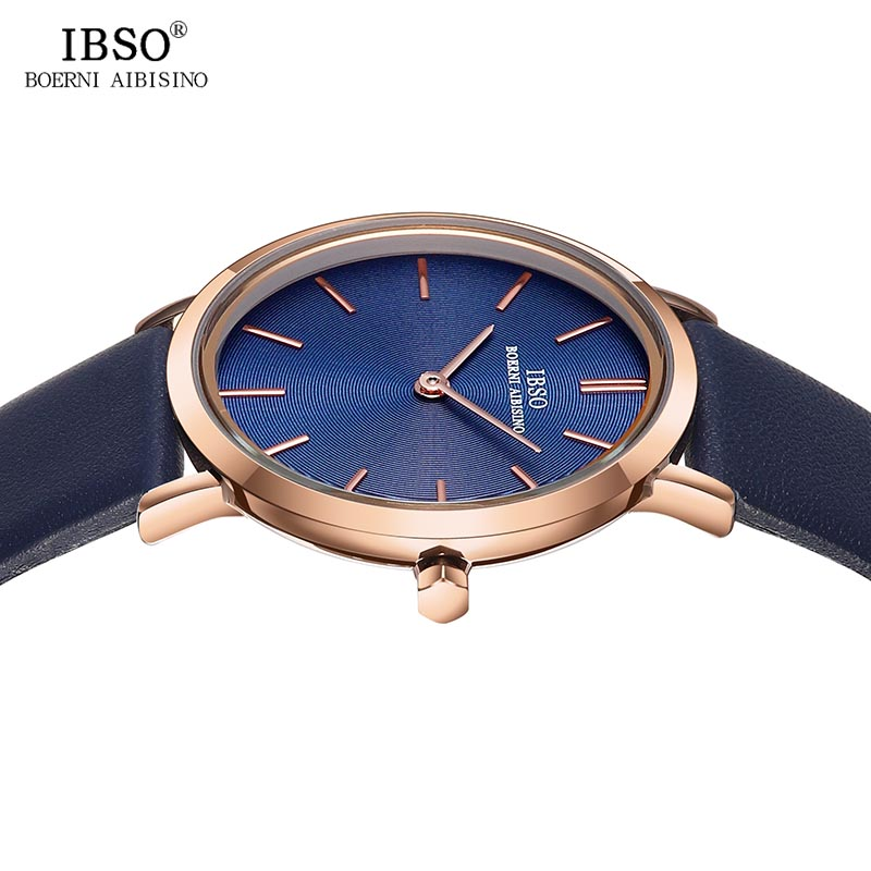 IBSO Women 39 s Wrist Watch Ultra Thin Quartz Simple Causal Female Clock Watches Montre Femme Leather Strap Watch Relogio Feminino in Women 39 s Watches from Watches