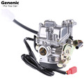 1Pc New 19mm Black Carburetor Moped Scooter Fit GY6 49CC 50CC 60cc Automotive Accessories