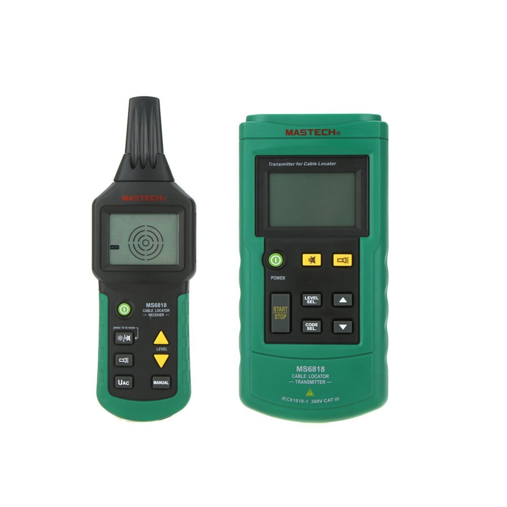 Mastech MS6818 Portable Wire Cable Tracker Metal Pipe Locator Detector Tester Line Tracker Voltage12 400V