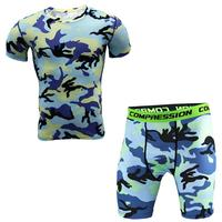 New 2017 Men Base Layer Camouflage T Shirt Fitness Tights Quick Dry Camo T Shirts Crossfit