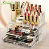Crystal Acrylic Storage Box Jewelry Container Makeup Display Stand Lipstick Cosmetic Organizer Nail Polish Storage Y0000012002