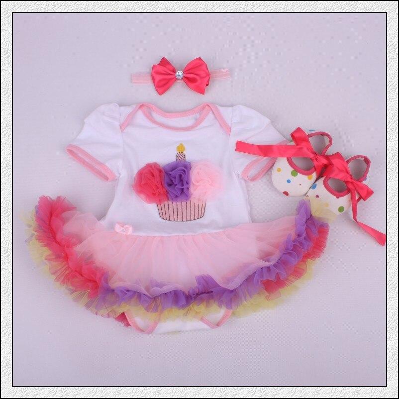 Bebé Mamelucos 3 unids ropa infantil bebé Niñas cumpleaños Cupcake ...