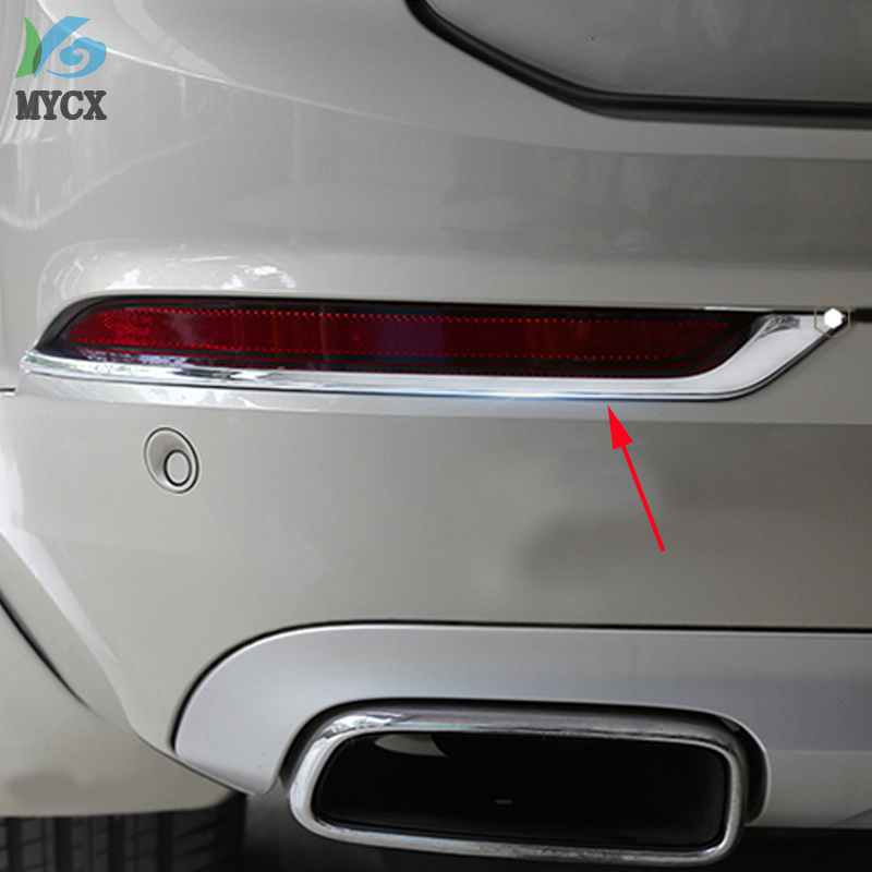 2016 Accessories 2pcs ABS Chrome REAR FOG LAMP COVER TRIM FITS FOR <font><b>VOLVO</b></font> XC90 <font><b>XC</b></font> <font><b>90</b></font> 2016 <font><b>2017</b></font> 2018 2019 Car styling image