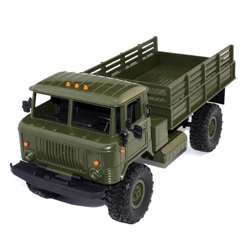 WPL B-24 1: 16 RTR 2.4G RC Crawler Truck Car Remote Control Kids Toy Car Military RC Truck Boy Birthday Gift remote control 1 32 detachable rc trailer truck toy with light and sounds car