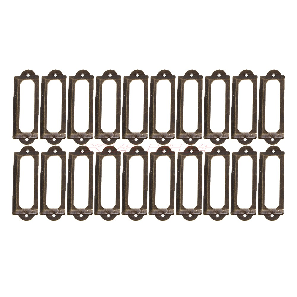 20pcs antique brass drawer label brand antique bronze drawer label frame card holder shelf library display