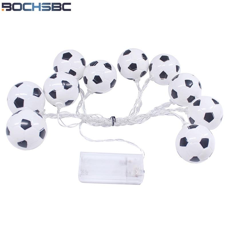 BOCHSBC Holiday Football LED Lamp Lights for Bedroom Living Room Coupe du monde de Football Light Coppa del mondo di calcio Lamp as roma cagliari calcio