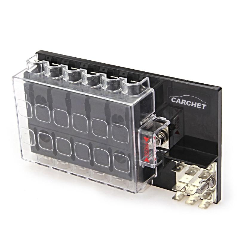 Aliexpress Com   Buy Carchet Fuse Box 12 Way Block Holder Circuit Fuse Box With Cover For Auto