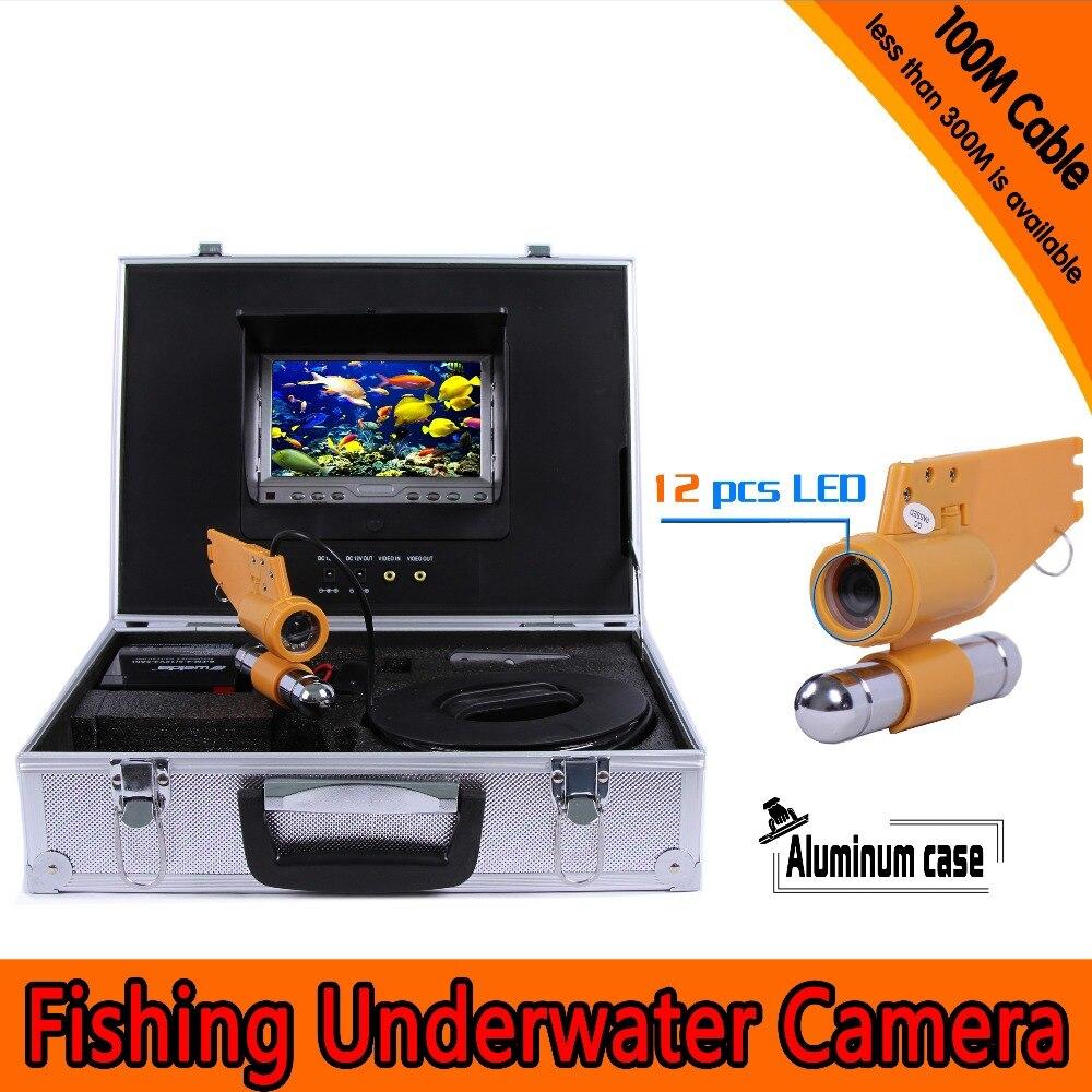 (1 set) 100M Cable Underwater Fishing Camera HD 1000TVL Waterproof CMOS lens night version camera Diving Camera Fish finder цена