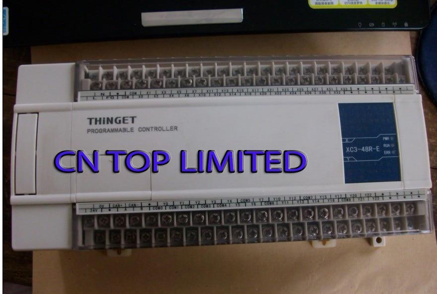 XC3-48R-E XINJE XC3 Series PLC AC220V DI 28 DO 20 Relay new in box xc3 48rt e xinje xc3 series plc ac220v di 28 do 20 relay transistor mixed output new in box