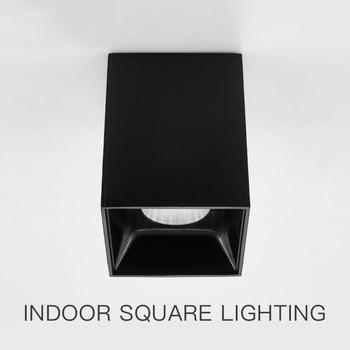 SCON mini วัตต์ cob สแควร์ focus โคมไฟเพดานพื้นผิว LED Spotlight