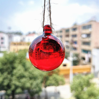 Precioso 4 unids/lote 30mm bolas lisas de cristal Multicolor Feng Shui colgante de ventana, árbol de Navidad y decoración de fiesta de cumpleaños