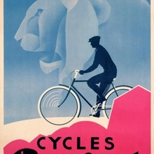 Minimalismo Club corredor colgante bicicleta ciclo Retro Vintage cartel de papel Kraft lienzo cuadro adhesivo para pared decoración del hogar regalo