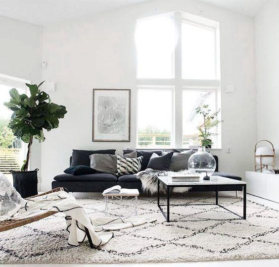 collalily Kilim handmade Carpet geometric Bohemia Indian Rug plaid striped Modern black white design Nordic style 1