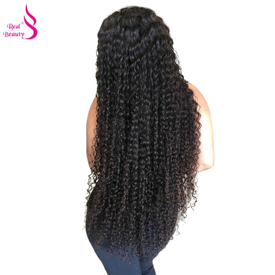 """Настоящее Красота афро кудрявый вьющиеся волосы переплетения 3 Комплект s предложения бразильский человеческих волос, плетение Комплект 8 """"-30 """"Natural Цвет Волосы remy"""