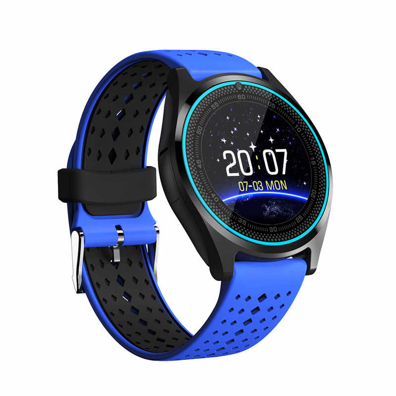 Bluetooth Smart Watch V9 with Camera Smartwatch Pedometer Health Sport relogios Men Women Smartwatch For Android IOS pk EX18 Y1