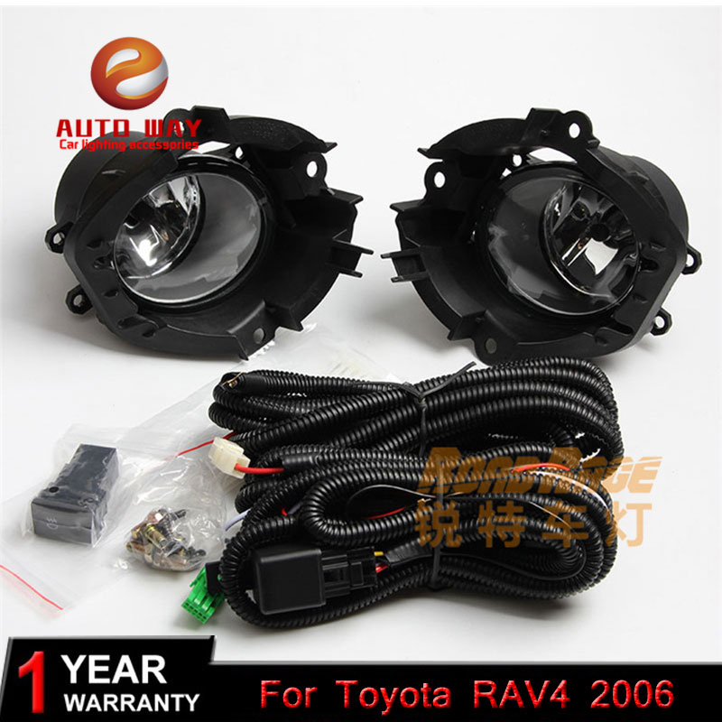Car styling Halogen fog lights Car Black 2pcs Front Bumper Fog Light Cover Grille Fog Light for Toyota RAV4 RAV4 2006-ON цены онлайн