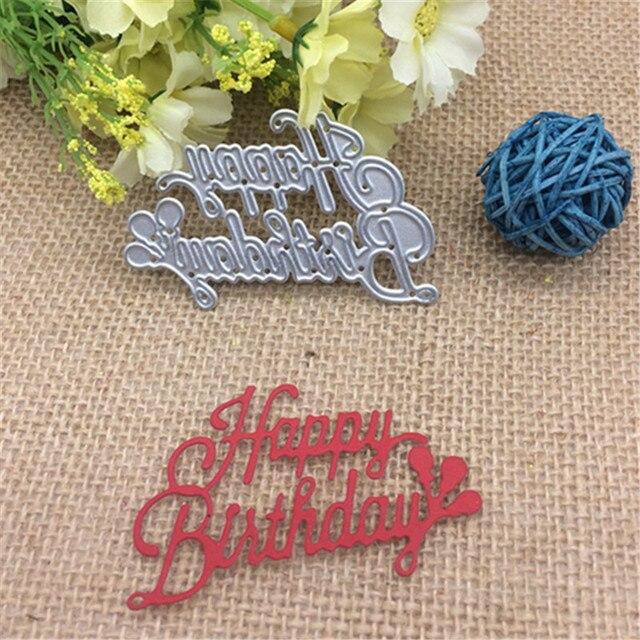 Wish Letters Happy Birthday Metal Cutting Dies Stencil Scrapbooking