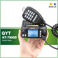 QYT KT-7900D Quad Band 136-174/220-270/350-390/400-480MHz 25W 200 Channels Colorful Screen Mini Mobile FM Radio with Cable