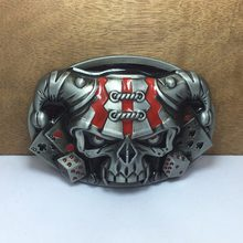 BuckleClub retro zinc alloy sheep head skull cowboy jeans gift belt buckle FP-03692 PEWTER FINISH 4cm width loop drop shipping