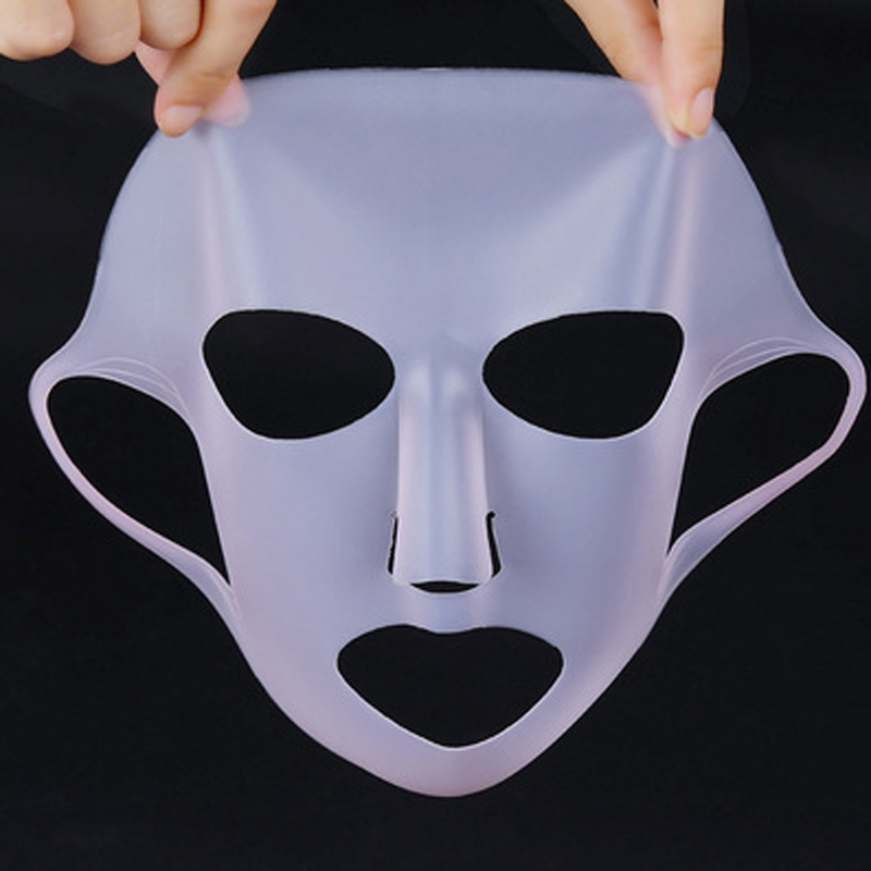 1pc Reusable Silicone Face Mask Cover Prevent Mask Essence Evaporation Inprove Absorption Whitening Moisturizing Face Mask Cover