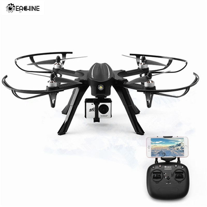 Eachine EX2H Brushless WiFi FPV With 1080P HD Camera Altitude Hold RC Drone Quadcopter RTF Barometer Altitude Hold W/ LED Light gteng t908w diy wifi fpv 0 3mp pixels altitude hold rc quadcopter rtf 2 4ghz