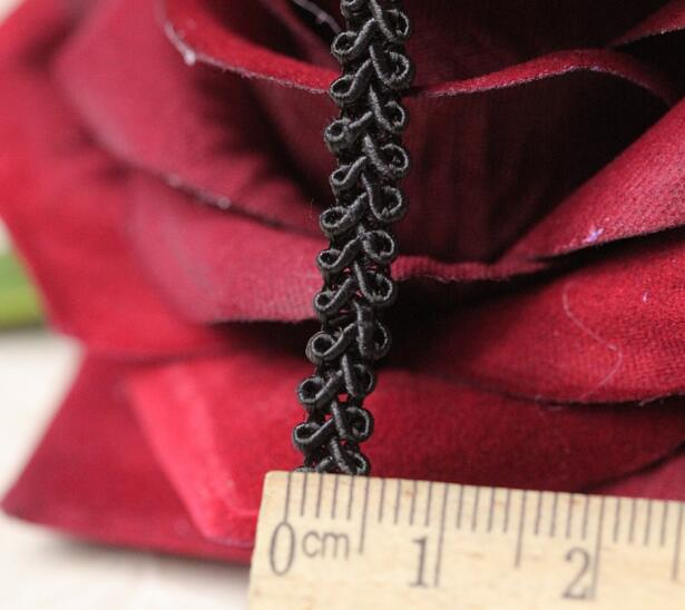 0 5CM Wide HOT Embroidery black flower lace fabric trim ribbon DIY sewing applique collar cord guipure wedding dress cloth decor in Lace from Home Garden