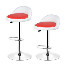 DOORSACCERY 2pcs/set White and Red PU Leatehr Bar Chair Lift Height 36*36*71cm Room Decoration Free Shipping In DE FR HWC(China)