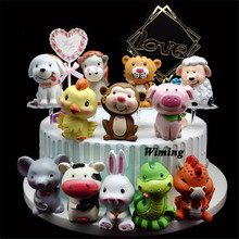 baby kids toys gift birthday cake decorating mouse cow tiger rabbit dragon snake sheep horse monkey chick pig dog topper