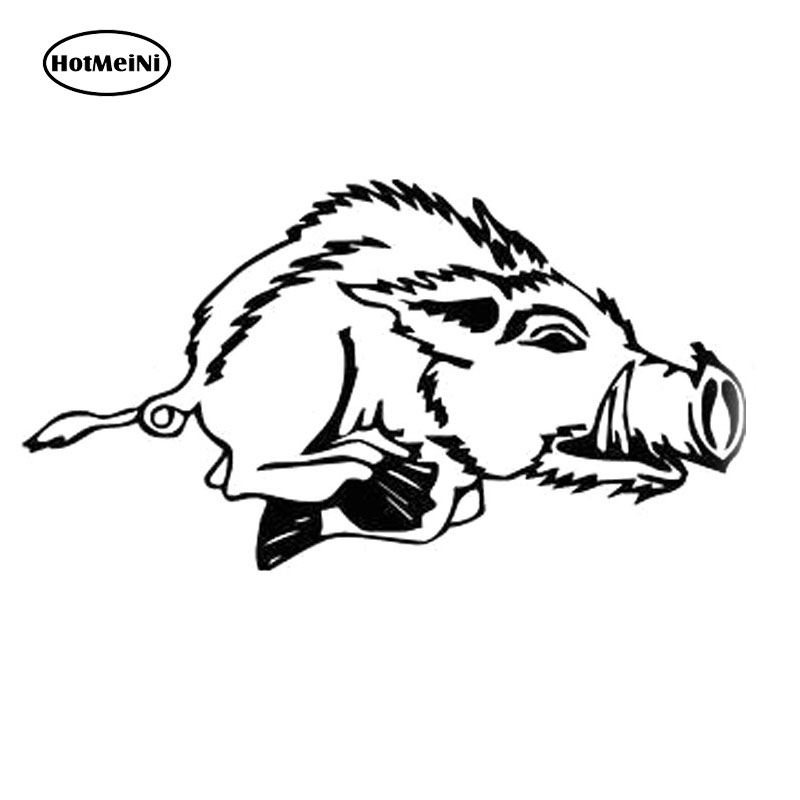 HotMeiNi 20X10.9CM HUNTER BOAR PIG Bardian Vinyl Car