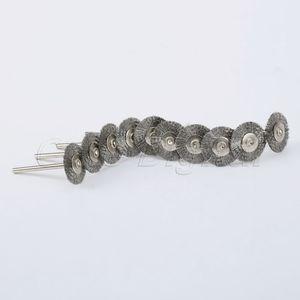 Image 4 - Accessoires Dremel, brosse rotative en acier, brosses à fil dremel pour meuleuse, 22mm, 10 pièces