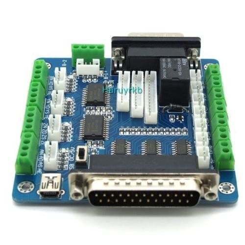 Mach3 Usb 5 Axis Cnc Breakout Board Interface Adapter For