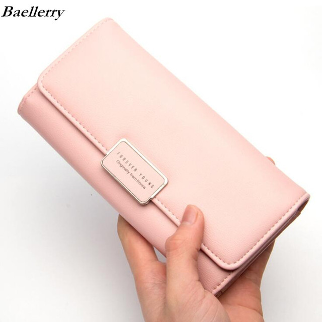 24ab8050a900 Baellerry Brand Designer Wallet Women 2018 New Arrivals Long Clutch Wallets  High Quality Leather Women's Purse Three Fold Purses