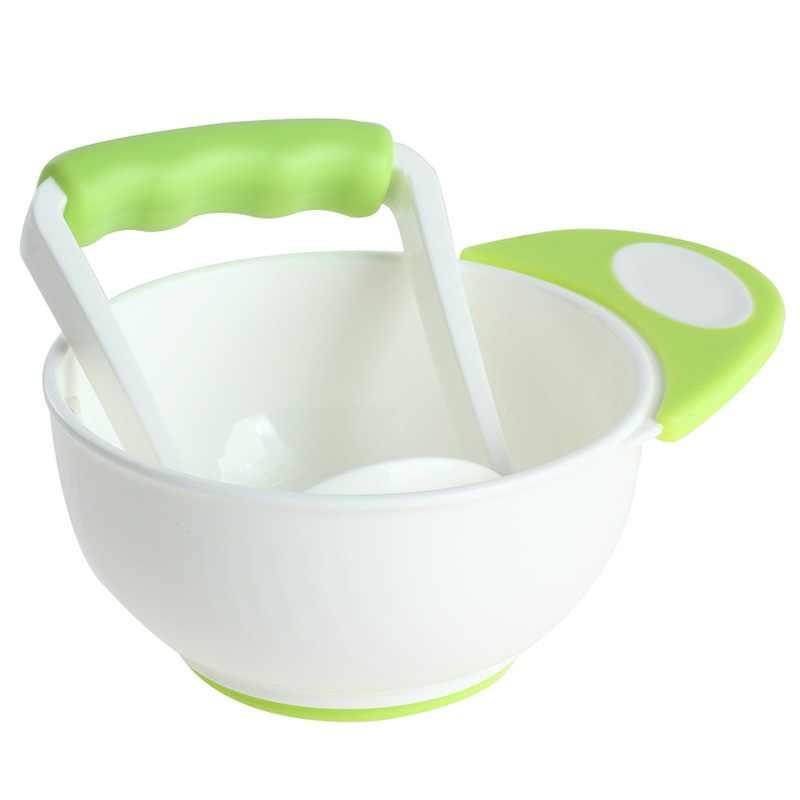 Los niños del bebé 2 piezas de tazones de bebé aprender platos a mano herramienta de molienda comida fruta suplemento niños infantil fábricas de alimentos 4 colores