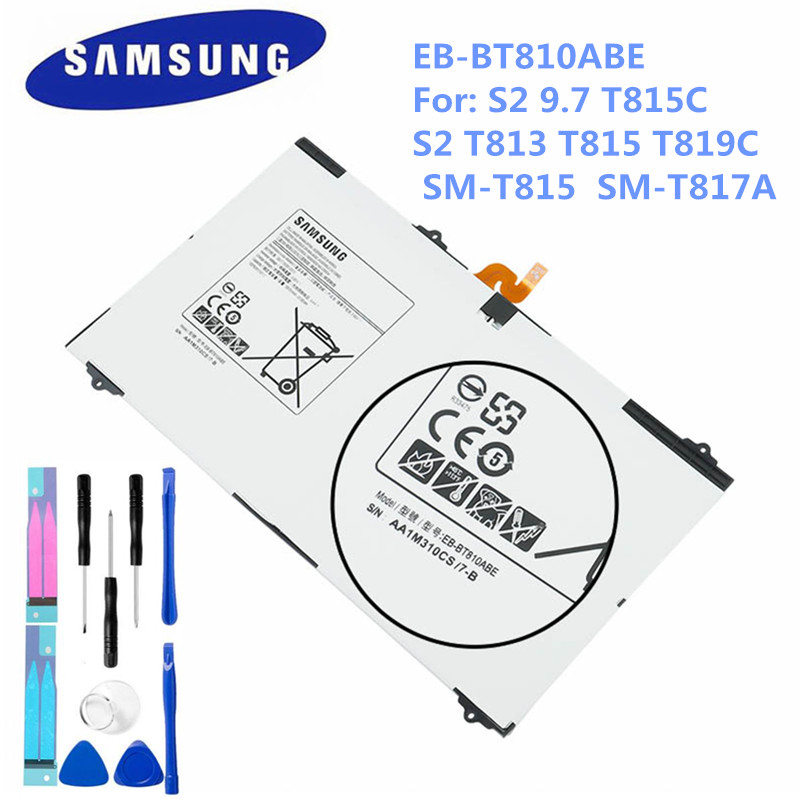 Samsung Replacement Galaxy Tab SM-T810 Original for S2 Battery Eb-Bt810abe/5870ma T819C