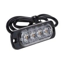 4 светодиода стробоскоп мигающий предупреждающий свет решетчатая подсветка фары для грузовика автомобильная лампа мигалки Янтарный Синий Красный светофоры